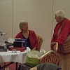 Hilary sorting the raffle prizes with Col Helen