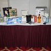 One of the Gala dinner raffle tables